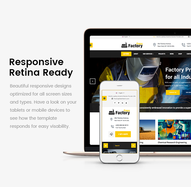 FactoryPress - Factory, Company And Industry WP Theme - 1
